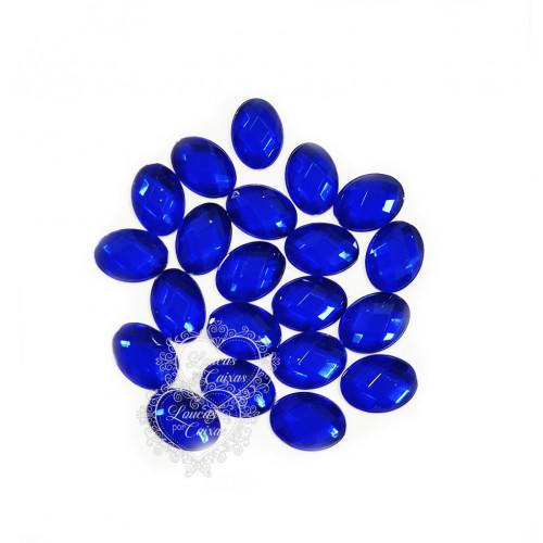 Chaton Oval 10x14 mm - 5g - Azul Royal