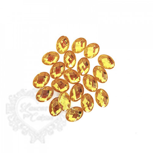 Chaton Oval 10x14 mm - 5g - Amarelo