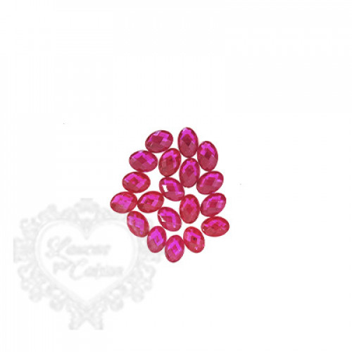 Chaton Oval 10x14 mm - 5g - Rosa Pink