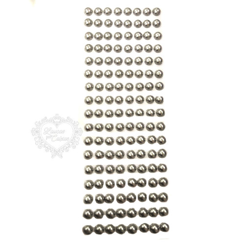 Cartela de Meia Pérola 10mm - Prata