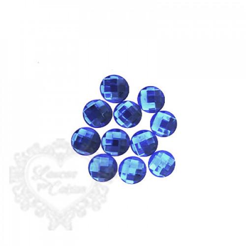 Chaton Redondo Sextavado 16mm - 5g - Azul Royal