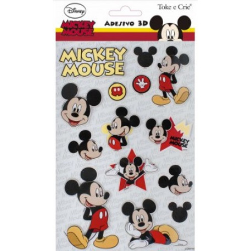 Adesivo 3d 14x21 cm Mickey Mouse
