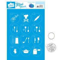 Stencil Mini Cozinha - 17x21..