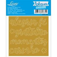Aplique Acrílico - Palavras: Alegria, Fé..