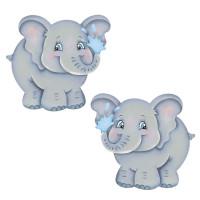 Aplique em Papel e MDF - Elefantes..