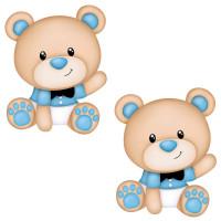Aplique em Papel e MDF - Ursinhos Bebês..