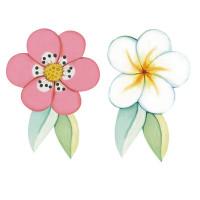 Aplique em Papel e MDF - Flores..
