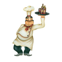 Aplique em Papel e MDF - Cozinheiro com ..