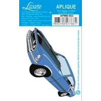 Aplique em papel e MDF - Carro Antigo Az..