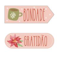 Aplique em Papel e MDF - Tags Bondade e ..