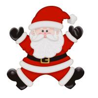Aplique em Papel e MDF - Papai Noel..