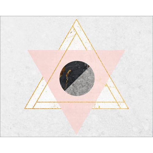 Placa Decorativa em MDF - Minimalista Formas Geométricas