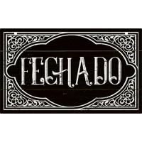 DECOR HOME - Placa porta Fechado 12x20..