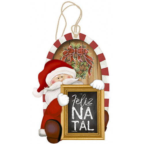 DECOR HOME NATAL - Tag Papai Noel
