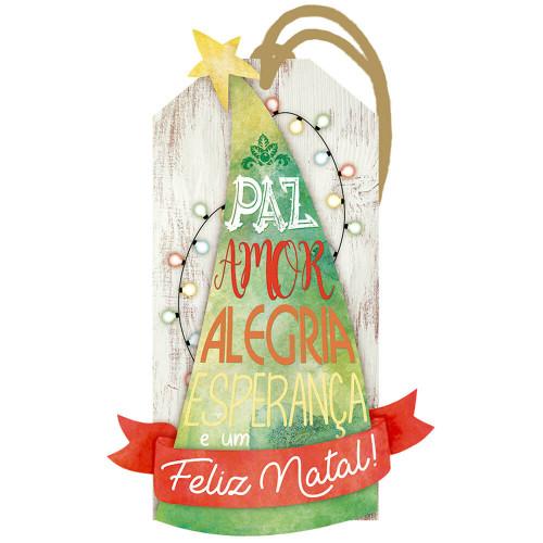 DECOR HOME NATAL - Tag Árvore de Natal