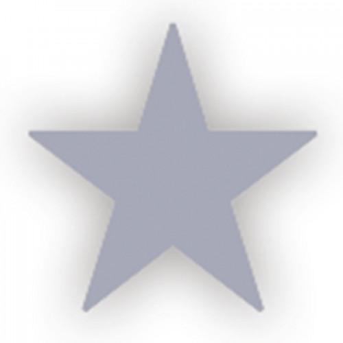 Lacre Estrela Prata 1 cm