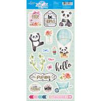 Die Cuts Scrapbook - Panda - 15,2 x 29,5..