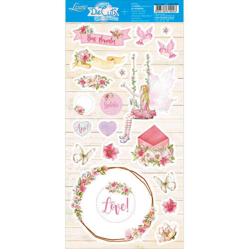Die Cuts Scrapbook - Fada Adulta - 15,2 x 29,5 cm