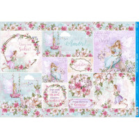 Papel Decoupage - Fadas Adultas - 49x34,..