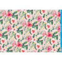 Papel Decoupage - Floral Tropical..