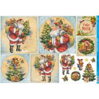 Decoupage Natal - Papai Noel Vintage..