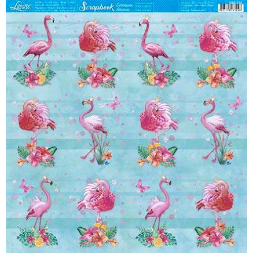 papel 180g flamingos - face única