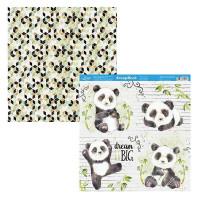 Papel Scrap Panda, Bambu, Masculino - Du..