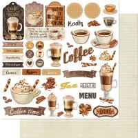 Papel Scrap Tags, Café, Copo, Chantily, ..