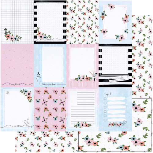 Papel Scrap Cards Para Escrita- Dupla Face 30,5x30,5 - 180g