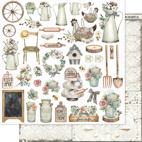 Papel ScrapBook Country - Dupla Face 30,5x30,5 - 180g