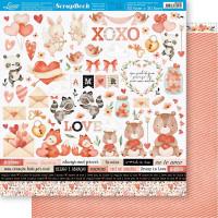 Papel ScrapBook Amor Aquarela Recortes -..