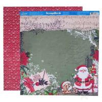 Papel Scrap Natal - Feliz Natal, Papai N..