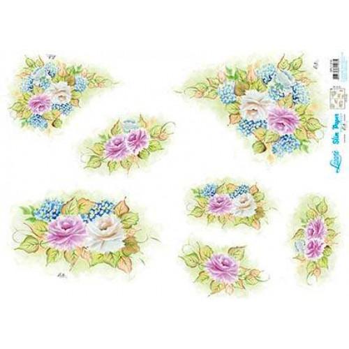 Slim Paper Decoupage - Rosas
