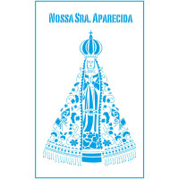 Stencil Nossa Senhora Aparecida - 21x34...