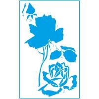 Stencil Flor Rosa 02 - Sobreposição - 21..