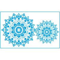 Stencil Mandalas - 21x34.4 cm..