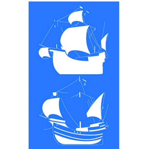 Stencil Caravela - Sobreposição - 21x34,4 cm