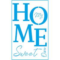 Stencil Home Sweet Home - 21x34,4 cm..