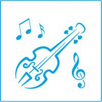 Stencil - Instrumento Músical - 10x10..