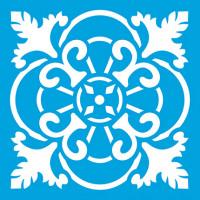 Stencil Azulejo 2 - 10 x 10 cm..