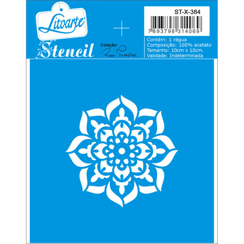 Stencil Mandala - 10x10 cm