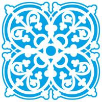 Stencil Azulejo Rendado - 14x14 cm..