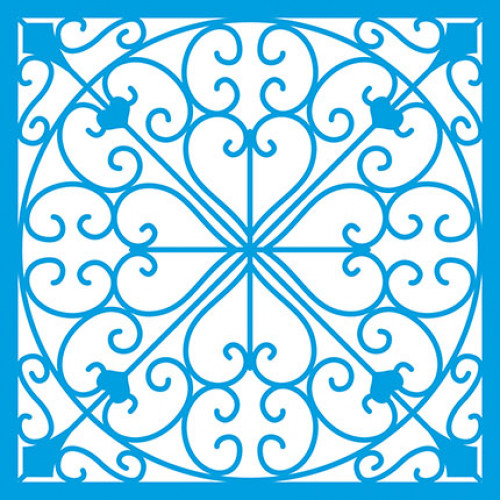 Stencil Azulejo e Arabescos 14x14 cm