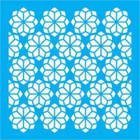 Stencil Estampa Floral - 14x14..