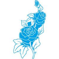 Stencil Rosas - 21x34.4 cm..