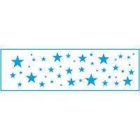 Stencil Estrelas - 8,4 x 28,5 - ste-057..
