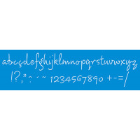 Stencil alfabeto cursivo minúsculo 28,6 ..