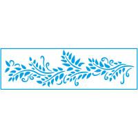 Stencil Folhas Arabescos - 8,4 x 28,5..