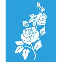 Stencil Rosas - 17 x 21 cm..