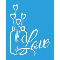 Stencil Vidro Love Aromatizador - 17x21..